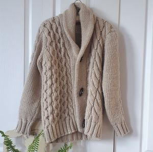 One-of-a-kind wool blend sweater